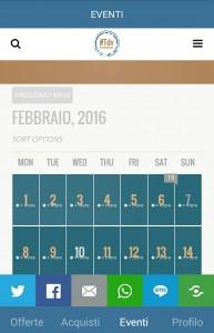 Una volta arrivato alla sezione EVENTI scorri il Calendario a tuo piacimento!
