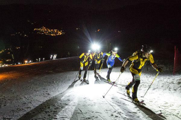 folgrait skialp race gara scialpinismo in notturna a folgaria