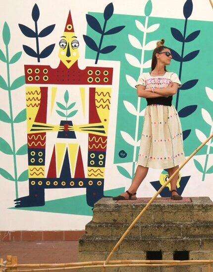 murale realizzato alla Masseria Sant'Agapito in Puglia